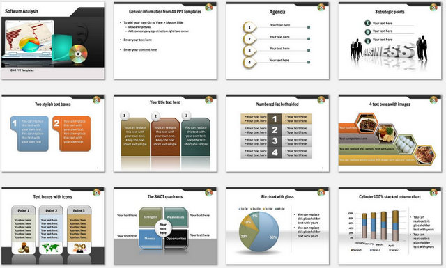 PowerPoint Software Analysis Charts 1