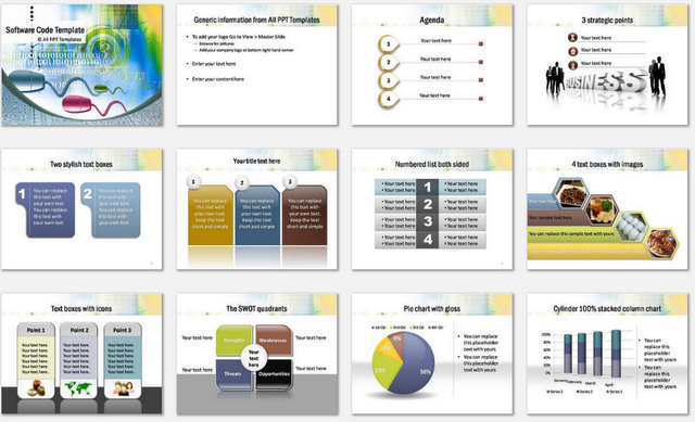 Powerpoint Software Code Template