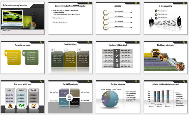 PowerPoint Software Processing Charts 1