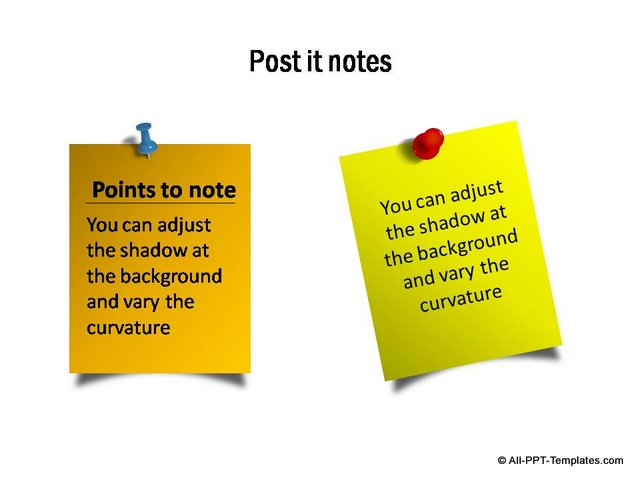 picture about Editable Post It Note Template identify PowerPoint Sticky Notice Template Mounted