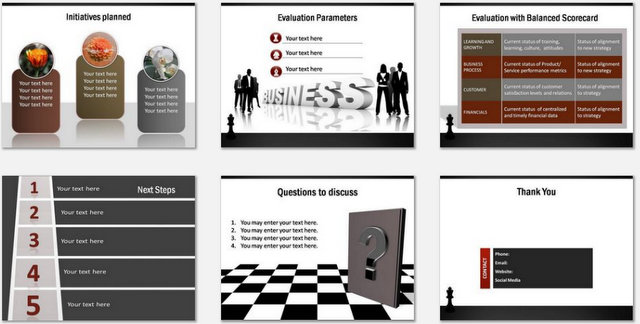 PowerPoint Strategy Drawing Board Charts 03