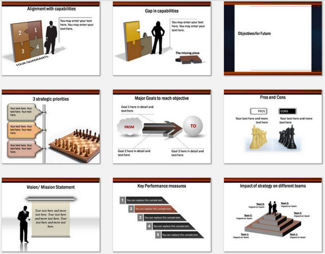 PowerPoint strategy Game Plan Charts 02