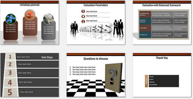 PowerPoint strategy Game Plan Charts 03
