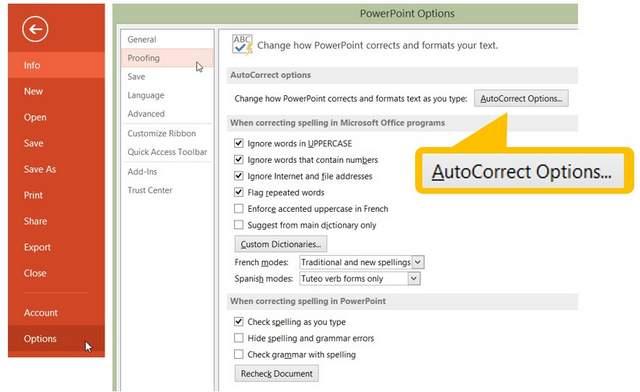 PowerPoint AutoCorrect Tool
