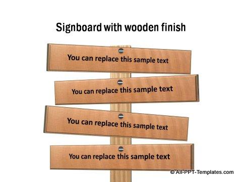 Wooden Announcements