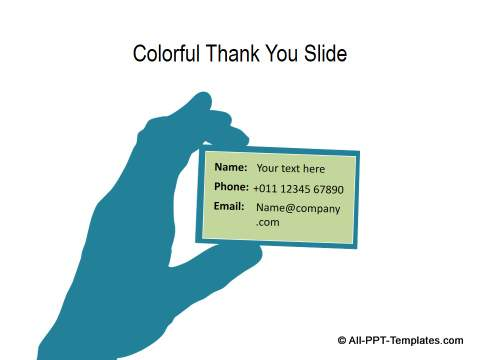 powerpoint thank you slide templates, Presentation templates