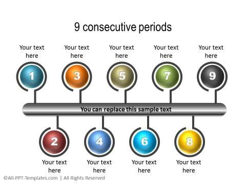 PowerPoint Linear Timeline 05