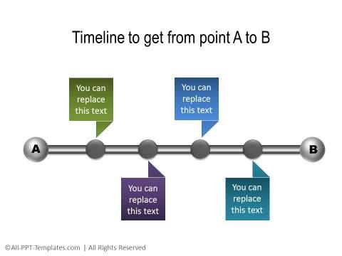 PowerPoint Linear Timeline 09
