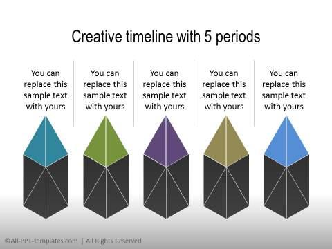 PowerPoint Linear Timeline 12