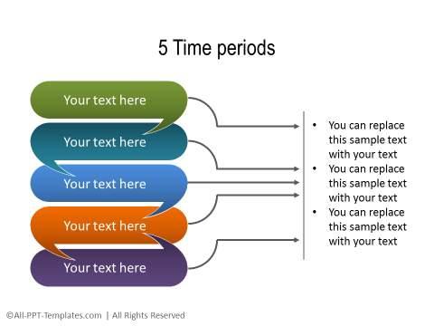 PowerPoint Linear Timeline 18