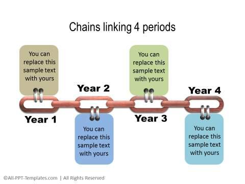 PowerPoint Linear Timeline 20
