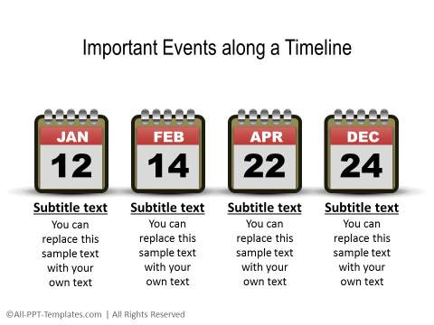 Event Timeline Sample. Sample Timeline Chart With Overlapping