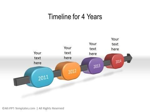 PowerPoint Linear Timeline 29