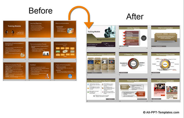 powerpoint training presentation design makeover example