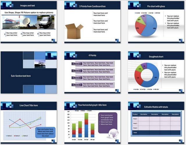 PowerPoint Transport Modes Charts 02