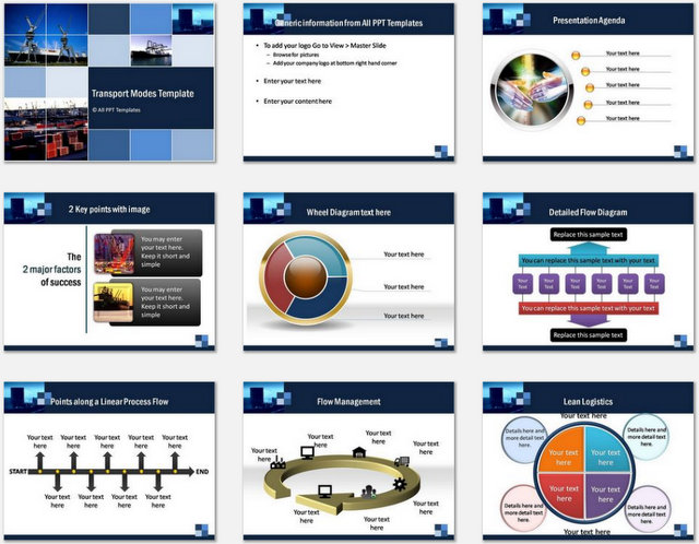 PowerPoint Transport Modes Charts 01