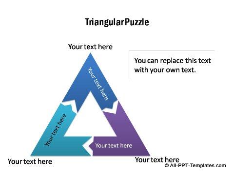 powerpoint triangle diagram settriangular puzzle diagram