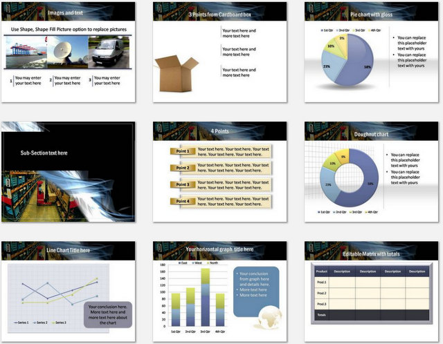 PowerPoint Warehouse Template