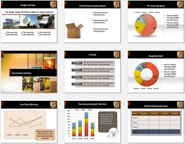 PowerPoint Warehousing Charts 02