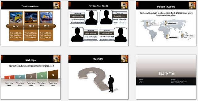 PowerPoint Warehousing Charts 03