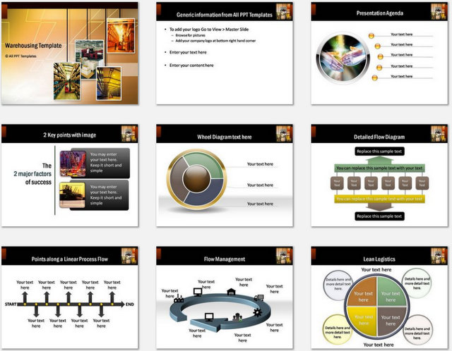 PowerPoint Warehousing Charts 01