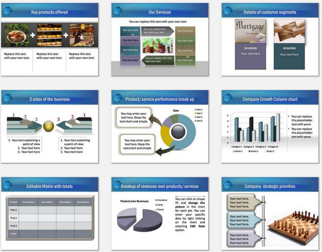 PowerPoint Water Drop Intro Charts 2
