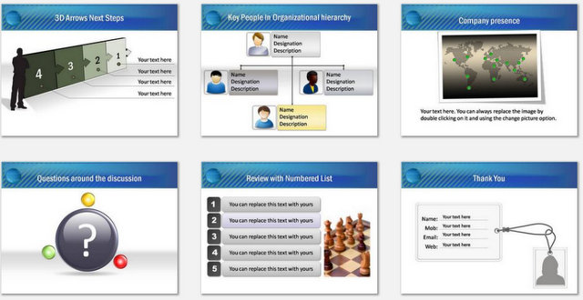 PowerPoint Water Drop Intro Charts 3