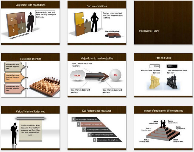 PowerPoint World Strategy Charts 02
