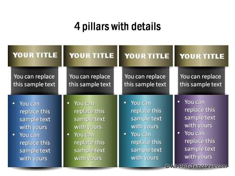 PowerPoint Information graphics with Metallic Finish