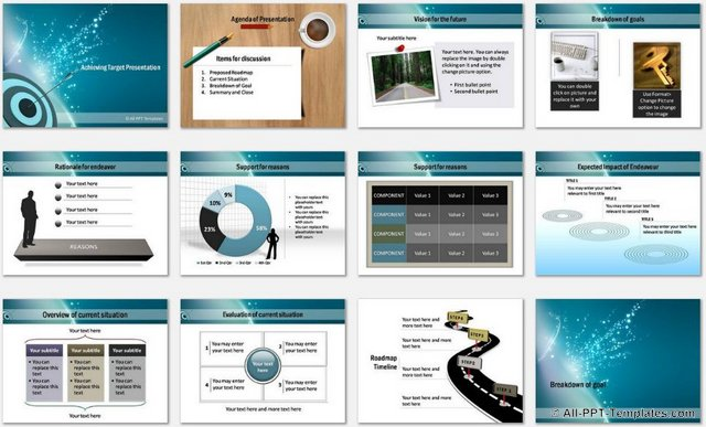 PowerPoint Achieving Target Templates 1
