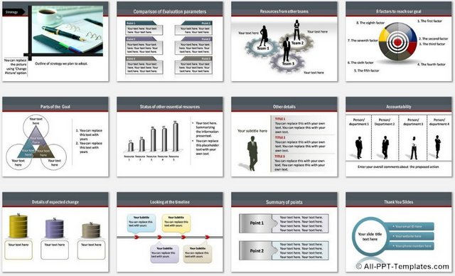 powerpoint business roadmap template, Modern powerpoint