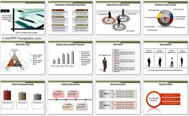 PowerPoint Construction Project Charts 2