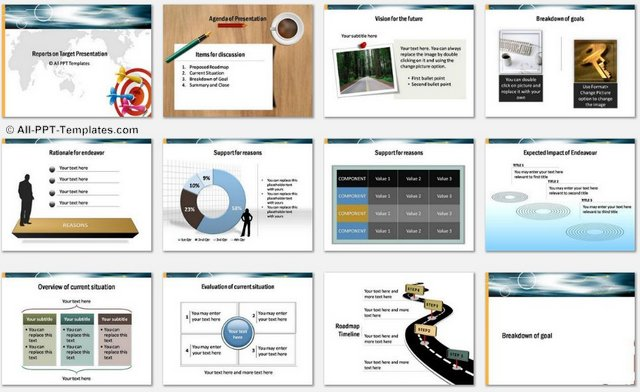 PowerPoint Target Report Charts 1