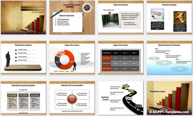 PowerPoint Performance Analysis Charts 1