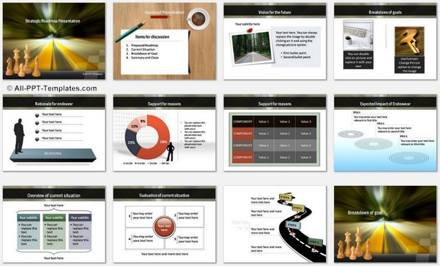 PowerPoint Strategic Roadmap Charts 1
