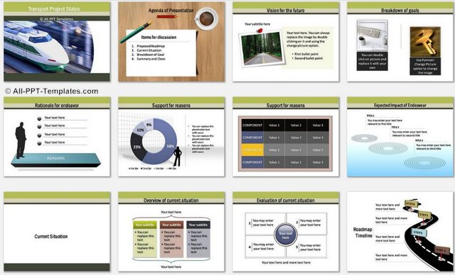 PowerPoint Transport charts 1