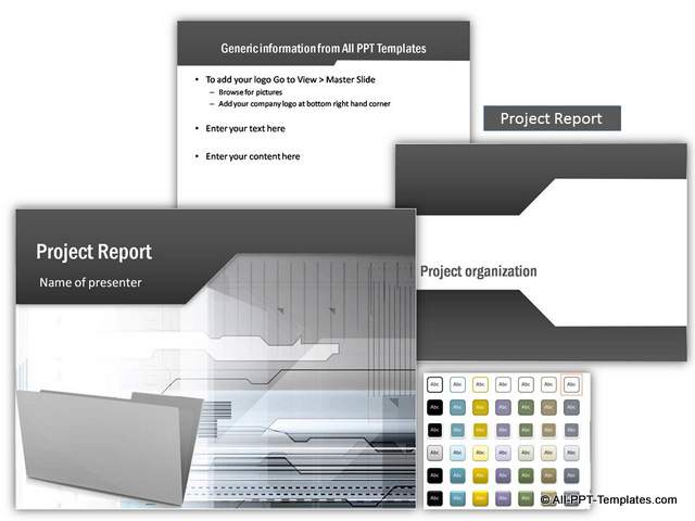 Project Report Themed PowerPoint Set