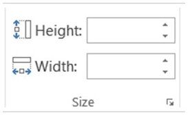 PowerPoint Size Menu Tab