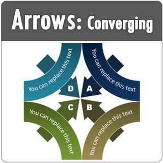 Converging PowerPoint Arrows