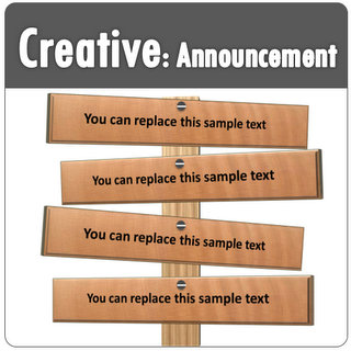 powerpoint creative text boxes for announcements