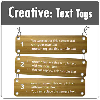 powerpoint creative text box templates with tags