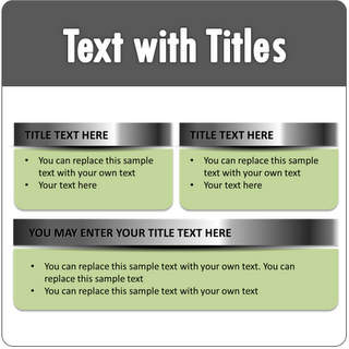 PowerPoint Text with Titles