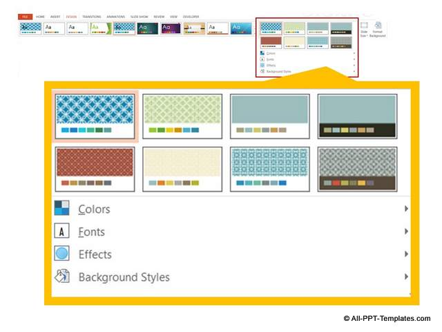 how to change design theme powerpoint
