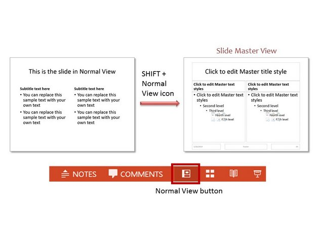 Shift Key for Normal Slide View