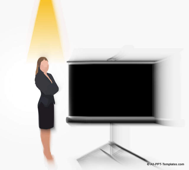 Blank Screen Shifts Focus to Presenter