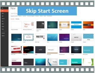 PowerPoint Start Screen