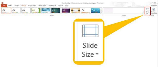 How to customize powerpoint slide size for your design project slide size setting toneelgroepblik Images