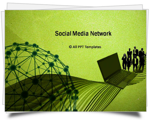 PowerPoint Social Media Network Template