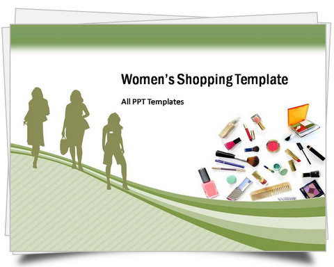 PowerPoint Women's Shopping Template