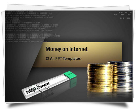 PowerPoint Money on Internet Template